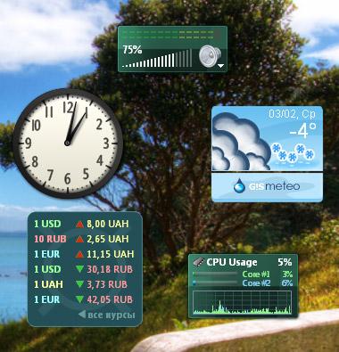 Коллекция лучших гаджетов для Windows 7