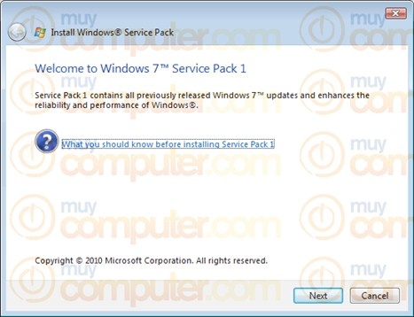 Service Pack 1 Beta for Windows 7